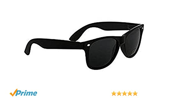 Nero Eyewear - klein Erwachsene glatt schwarz polarisiert weich Wayfarer Sonnenbrille - dunkel Katze 3 Brillengläser, kompletter UV400 Schutz