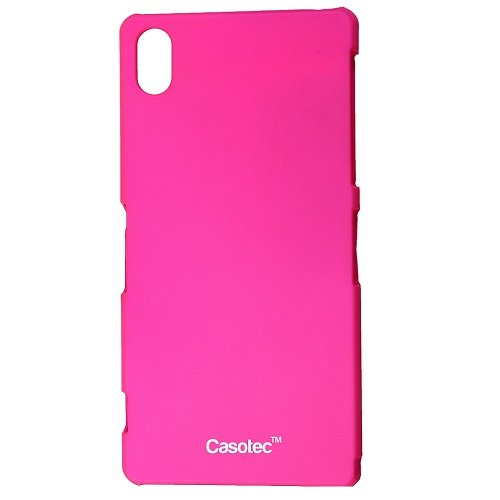 Casotec Ultra Slim Hard Shell Back Case Cover w/ Screen Protector for Sony Xperia Z2 - Hot Pink  available at amazon for Rs.125