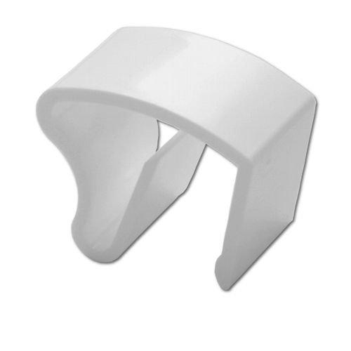10 Stück Jalou-Klick - Klemmträger Kunststoff für Alu-Jalousien - Farbe: weiss - Aluminiumjalousien - Jalousien - Alu Jalousien (10er Set = 10 Stück Klemmträger)