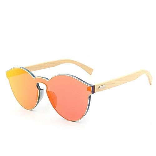 Wooden Handmake Fashion Holzfüße Sonnenbrillen Big Box Wild Frameless Personality Sonnenbrillen Brille (Color : Red)