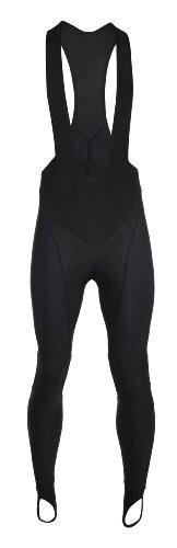 Bioracer, Pantaloni invernali sportivi con bretelle Uomo Snowflake Nero (Schwarz)