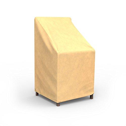 Budge Allwetter-Abdeckung für stapelbare Stühle/Barhocker (hellbraun)