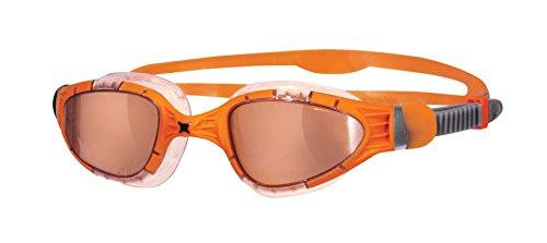 Zoggs Aqua Flex Titanium Gafas de Natación, Hombre, Naranja, Talla Única