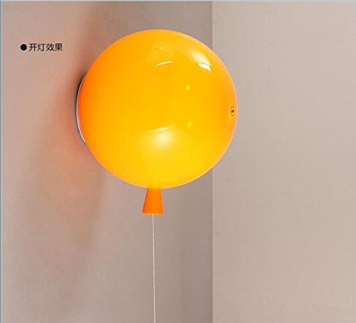 JJZHG Applique Murale Interieur Balloon Applique murale Couleur Lampe Pour Enfants,M-1 orange Avec 5Wled lumière Jaune 1 pièce comprend:Applique murale,Applique Murale Interieur Orange Court Hotel