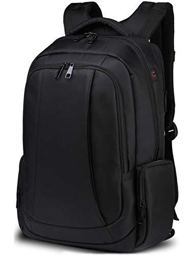 SHS Laptop Rucksack Tasche 15,6-17 Zoll Dicke wasserdichte Business Lady Herren Laptop Rucksack Arbeit Reisen Schulrucksack (schwarz)