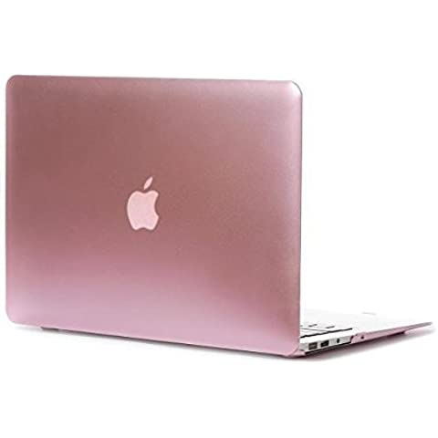FUCNEN? oro rosa in metallo rigida opaca, Borsa per Mac Book Air da 11,6, PLASTICA METALLO, rosa, 15.4Retina