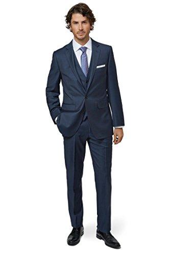 Lanificio F.lli Cerruti Dal 1881 Cloth Herren Tailored Fit Indigo Blau Anzug Jacke Sakko 42R Blau