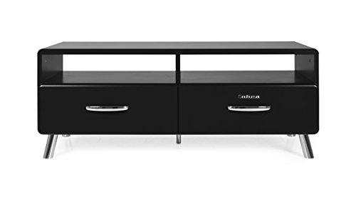 Tenzo 4942-024 Cobra Designer TV-Bank, 46 x 118 x 43 cm, MDF lackiert, schwarz Bank, Gewichte, Ersatzteile