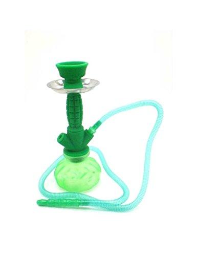 FumandoEspero Shisha - Cachimba Pequeña de Silicona (24 cm) - Color: Verde