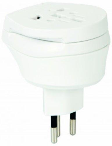 2 Stück im SET - Welt Kombi Reisestecker Stromadapter - Adapter für Amerika (USA) auf Schweiz für Steckdosen mit Schukostecker, Euro, 2 pol und 3 polige Strom Netz Stecker - US-SZ