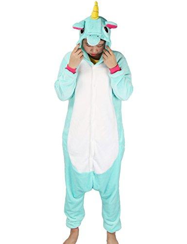 Adulte Unisex Licorne Pyjama Kiguruma Combinaison Vêtement de Nuit Cosplay  Costume Déguisement Unicorn 6d6448c4d0d