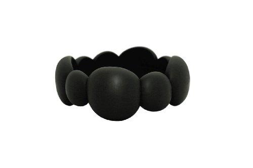 Preisvergleich Produktbild Jellystone-Design: Kugel-Armreif als Beißring, rauchschwarz