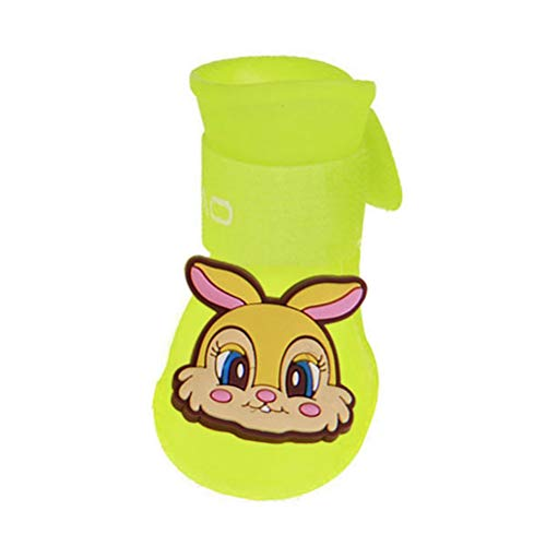 Feidaeu Pet Products Schuhe Cute Candy Bunte Wasserdichte Regenschuhe Verschleißfest, Waschbar, Durable Puppy Rubber Boots