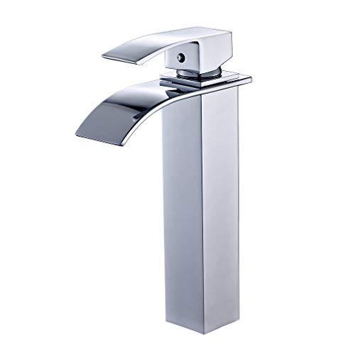 Auralum Robinet mitigeur à bec allongé Déversoir en cascade Pour salle de bain