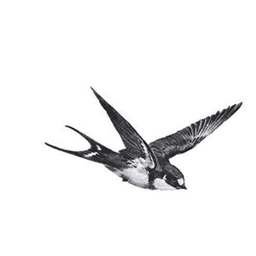 Fangfeen Mädchen Männer Frauen Arm-Bein-Wrist Temporary Aufkleber Fly Schwalben Vögel Design Körper Fuß Hand Tattoo