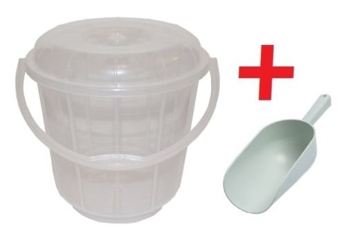 16-Litre-Clear-Plastic-Bucket-With-Lid-Carry-Handle-Ideal-for-Pet-Food-Animal-Feed-Wild-Bird-Seed-Grain-Corn-Storage-SCOOP