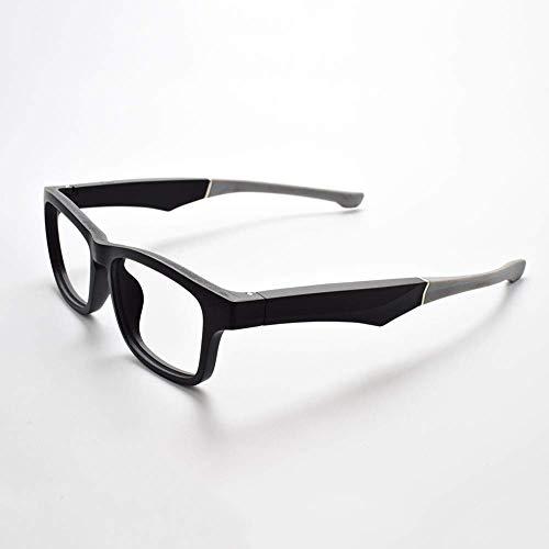 Knochenleitung Bluetooth Sonnen Brille Drahtloser, ZQYR Stereo Kopfhörer Wireless Sports mit Mikrofon für IOS/Android,Schwarz