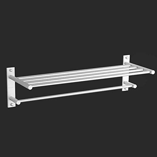 WANNA.ME Bad Regal Raum Aluminium, Anti-Rost Doppelschicht Handtuchhalter Hotel Engineering Bad Wandbehang Handtuchhalter Metall Bad-Accessoires (Größe: 70 cm)