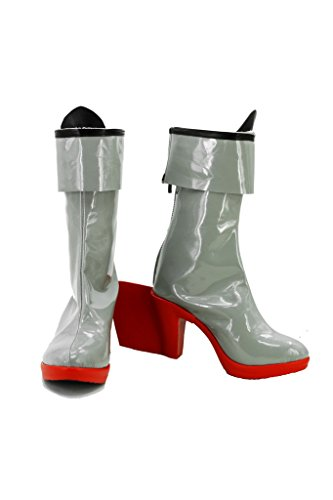 Fuman Kantai Collection Schuhe KanColle Japanese Destroyer Shimakaze Cosplay Boots Stiefel Damen Silber Maßanfertigung Silber oEUrFeQyu