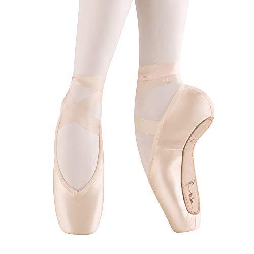 Zapatos de Punta Satén Zapatillas de Ballet con Puntera de Gel de Silicona y Cintas para Mujeres y Niñas 41