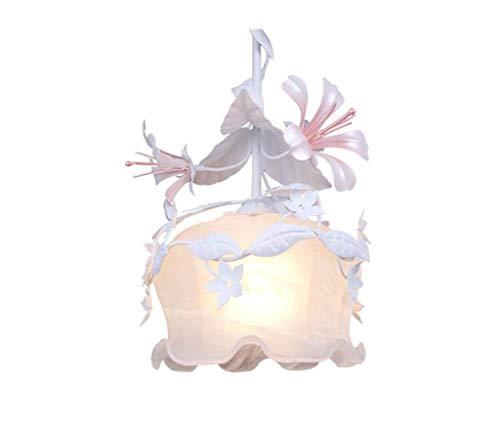 $Beleuchtung Kronleuchter aus Glas Einzelner Kreativer Treppenhaus Balkon Schmiedeeisen Kronleuchter Innenleuchten (Farbe : Weißes Licht) - Weiß Schmiedeeisen Kronleuchter