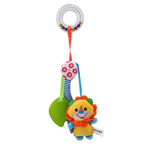 SEVENHOPE Baby Infant Kinder Spielzeug Weichem Plüsch Kinderwagen Clip Bett Krippe Kinderwagen Hängende Tiere Arch Quietschen / Rassel / Beißring (Löwe) (Kinderwagen Arch)