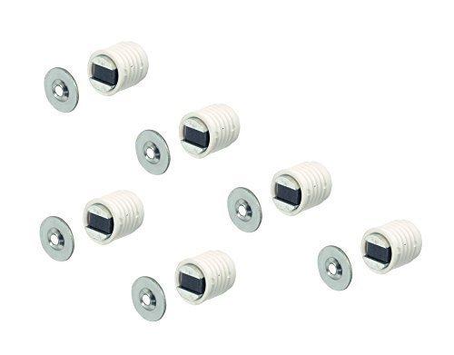 6 Stück GedoTec® Profi Magnetschnäpper Möbelschnäpper für 12 mm Bohrung | Magnetverschluss Farbe: weiß | Möbelmagnet mit Stahl Gegenplatte | Einbohr-Magnet 4,5 kg Haltekraft | Markenqualität für Ihren Wohnbereich Hettich-schubladen 12