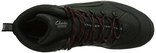Clarks Outride Hi GTX Herren Schneestiefel Schwarz (Black Leather)