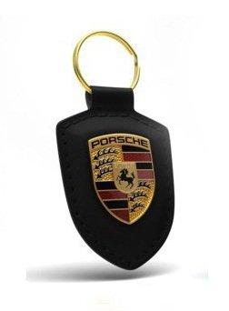 Porte-clés en Cuir avec logo Porsche pour 911 Panamera Cayenne Noir, WAP0500900E
