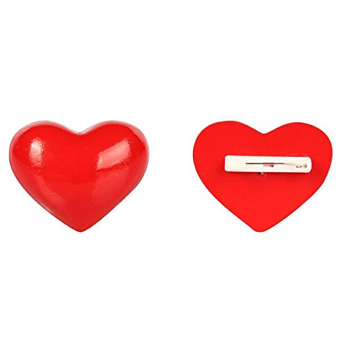 De-Cos Macross Frontier Cosplay Accessory Lee Ranka Heart Shaped Brooch