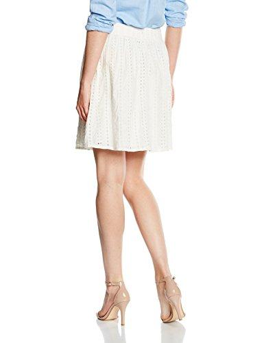 TOM TAILOR Denim Damen Rock Hole Embroidered Mini Skirt Elfenbein (off white 8005)