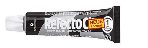 RefectoCil Augenbrauen- Und Wimpernfarbe - Tiefschwarz, Für Braune Bis Schwarze Färbung, Inhalt 15 Ml