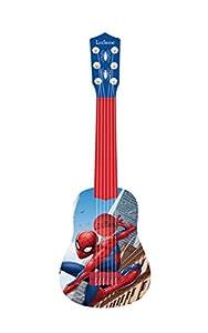 LEXIBOOK K Marvel Spiderman-Mi Primera Guitarra, 53 cm, 6 Cuerdas de Nailon, Instrumento Infantil, a Partir de 3 años K200SP, Color