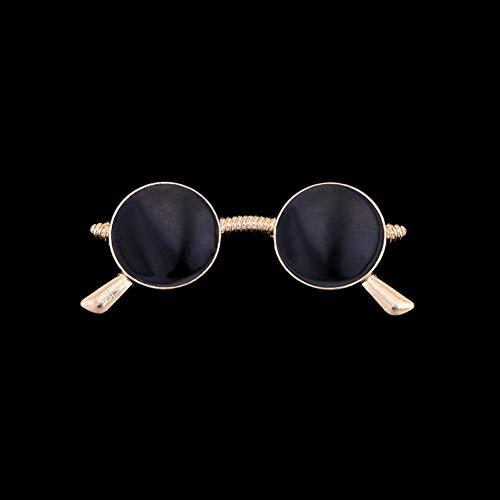 JTXZD Brosche Mode Neue Frauen Emaille Brosche Sonnenbrille Glasform Legierung Broschen Revers Abzeichen Corsage Hemdkragen Zubehör