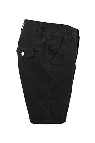 Herren Chino Shorts Von Brave Soul Baumwolltwill Smith - Black