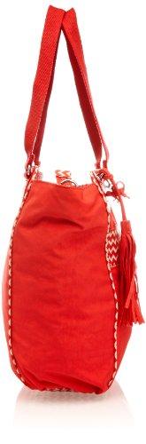 Kipling PARTYLICIOUS K12336A96, Unisex-Erwachsene Schultertaschen 46x39x17 cm (B x H x T) Rot (Cardinal Red PA)