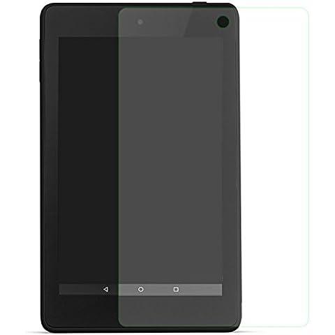 MoKo Premium HD Claro 9H Dureza Pantalla Protectora Films de Vidrio templado con Oleophobic revestimiento para Amazon Kindle Fire HD 6 2014 Tablet, Crystal
