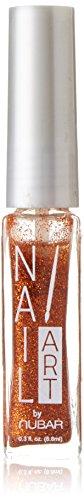 Striper Glitter (Nubar orange glitter Nail Art Stripers Nagel Dekoration 74ml)