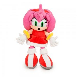Amy Rose 12'' Plush Toy Doll Sonic X Girlfiend Rascal Video Game Pink Female Sega Soft