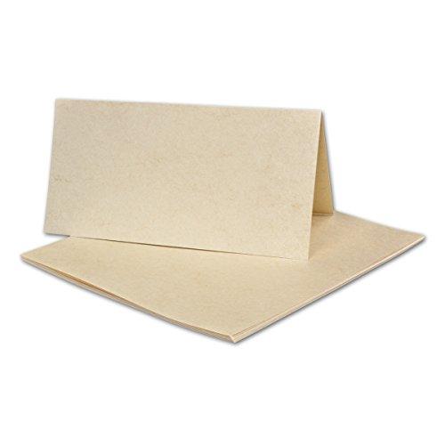 1000 Stück DIN LANG Faltkarten, Elefantenhaut HELL, 210 x 210 mm, 190 g/qm, beschichtet!