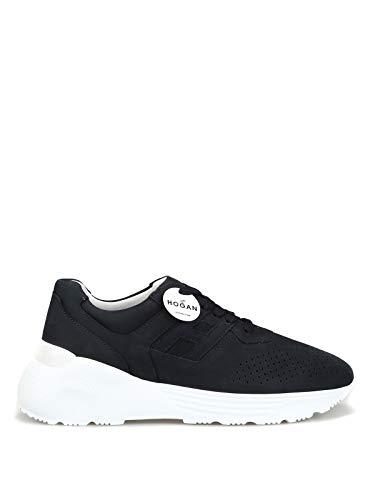 Hogan Homme Hxm4430br106rnu810 Bleu Cuir Chaussures De Ska