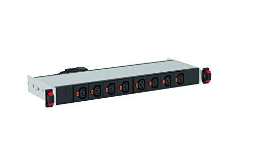 smarte Rack-PDU metered & switched 0U, 10A-230V, IEC 320-Steckdosen: 16 x C13, 2,4 kVA max., mit Echtzeit-Leistungsmessung und Umgebungsüberwachung -