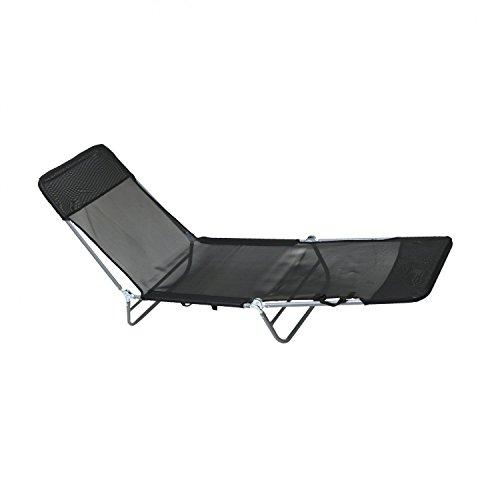 Oypla Silla reclinable Cama Plegable Tumbona Playa Jardín Camping