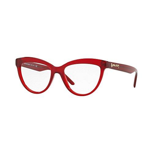 Burberry 0be 2276 3495 51, occhiali da sole donna, rosso (red)