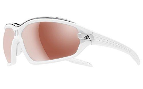 Adidas - EVIL EYE EVO PRO S A194, Sportbrille, Acetat, Herrenbrillen, MATTE WHITE/LST ACTIVE SILVER H cat.3(6061 L)