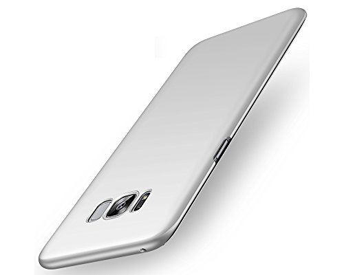 EIISSION Samsung Galaxy S8 Hülle,EMIRROW schlicht dünn Leichte Cover SlimShell Case PC Schutzhülle für Samsung Galaxy S8 Handyhülle,Silber