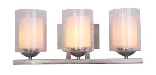 Preisvergleich Produktbild WOODBRIDGE (Beleuchtung 53113-stn Cosmo Deckenpendelleuchte Bad Licht,  Satin Nickel
