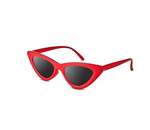 Nwn Sonnenbrille Männer Und Frauen Persönlichkeit Retro-Trend Straße Schießen Anti-UV-Reise Schutzbrillen Multi-Color Optional (Color : Red Frame Black Film)