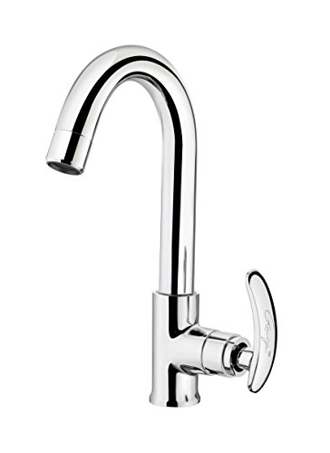 Ganga 1308 Leo Sink Cock With Regular Swinging Spout Faucet (Silver)