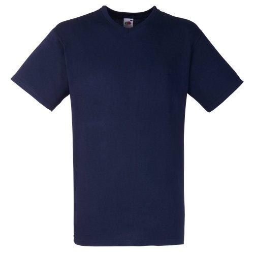 Fruit Of The Loom Valueweight T-shirt für Männer mit V-Ausschnitt, kurzärmlig deep navy